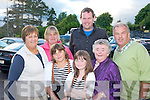 Chernoybl children Lisa Sai and Nastya Sherchuk pictured with their host family Kathleen, Kieran and Ger Fitzgerald, Kilcummin and Joan Buckley and Betty Crosbie at their welcoming party in the Dromhall Hotel, Killarney on Tuesday evening.......................................................................................