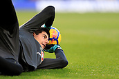 5th November 2017, Stamford Bridge, London, England; EPL Premier League football, Chelsea versus Manchester United; Thibaut Courtois of Chelsea warms up