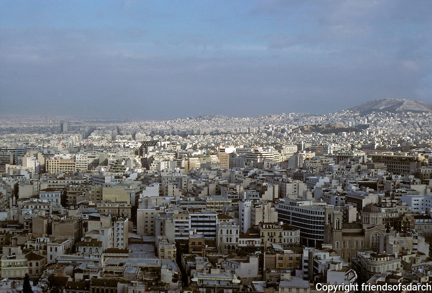 Athens: View of Athens from Acropolis. Photo '82.