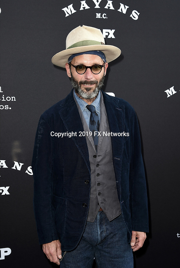 """LOS ANGELES - AUGUST 27: Michael Ornstein attends the season two red carpet premiere of FX's """"Mayans M.C"""" at the ArcLight Dome on August 27, 2019 in Los Angeles, California. (Photo by Scott Kirkland/FX/PictureGroup)"""
