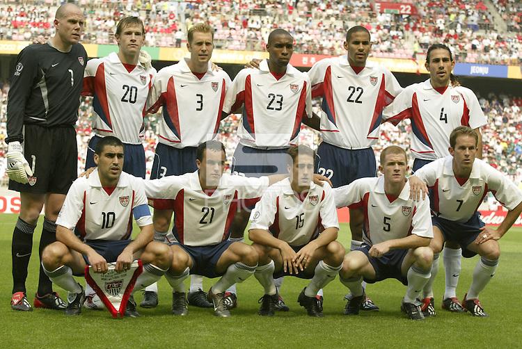 USA team photo vs Mexico, 2002 World Cup, South Korea.