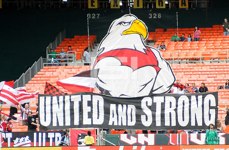 D.C. United fans. D.C. United tied The Philadelphia Union 1-1 at RFK Stadium, Saturday August 19, 2012.