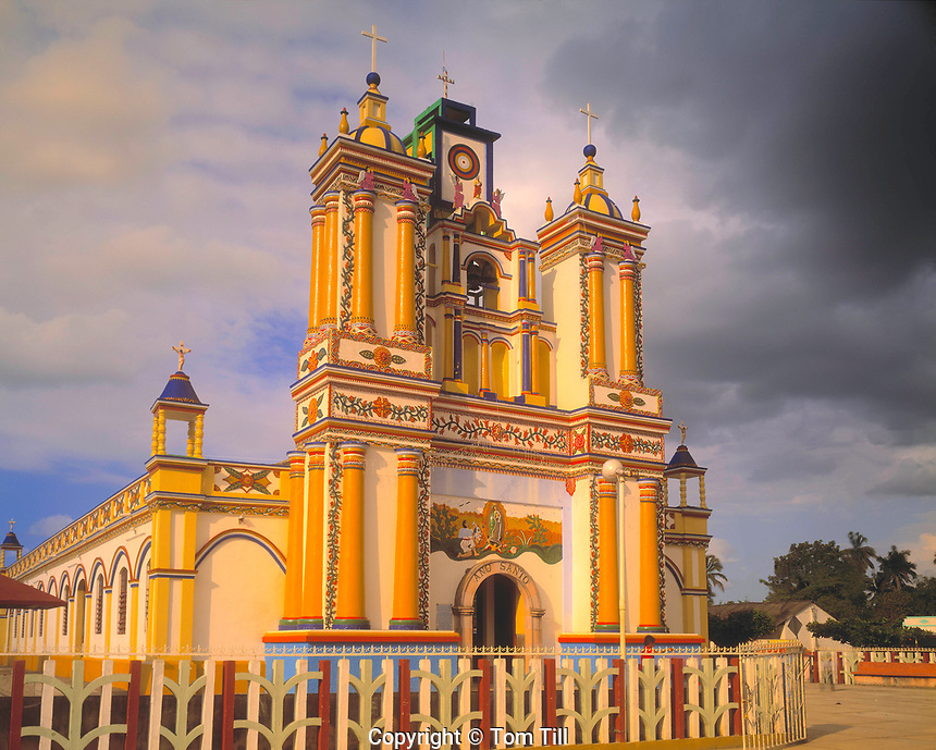 Hand-painted Church, Tabasco State, Mexico