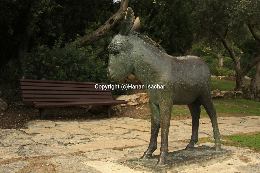 Israel, Haifa. The Sculptures Garden on Mount Carmel featuring sculptures of Ursula Malbin