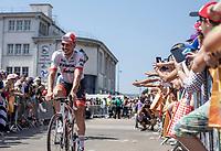 John Degenkolb (GER/Trek Segafredo) pre race.<br /> <br /> Stage 6: Brest > Mûr de Bretagne / Guerlédan (181km)<br /> <br /> 105th Tour de France 2018<br /> ©kramon