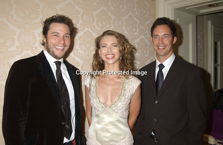 "..Rocco DiSpirito , girlfriend Yvonne Scio and Tom Cavanaugh of "" ED""..at the American Museum of the Moving Image Gala honoring Bob Wright and Jim Robbins on October 8, 2003..at the St Regis Hotel in New York City. ..Photo by Robin Platzer, Twin Images"