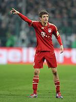 FUSSBALL   DFB POKAL   SAISON 2011/2012   HALBFINALE   21.03.2012 Borussia Moenchengladbach - FC Bayern Muenchen  Thomas Mueller (FC Bayern Muenchen)