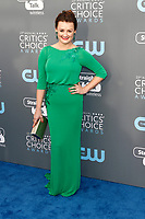 Alison Wright attends the 23rd Annual Critics' Choice Awards at Barker Hangar in Santa Monica, Los Angeles, USA, on 11 January 2018. - NO WIRE SERVICE - Photo: Hubert Boesl/dpa /MediaPunch ***FOR USA ONLY***