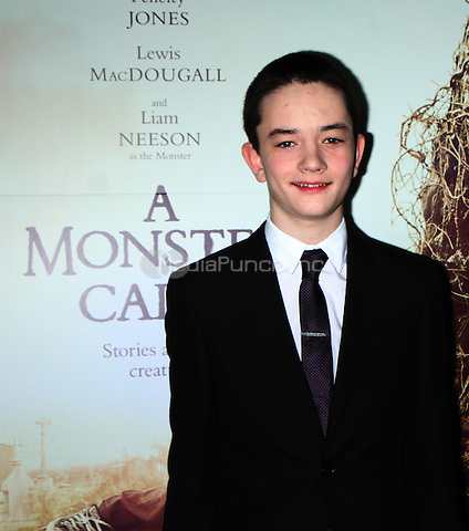 NEW YORK, NY December 067: Lewis MacDougall  at  Focus Features present New York  Premiere of A Monster Calls  at the AMC Loews Lincoln Square in New York .December 07, 2016. Credit:RW/MediaPunch
