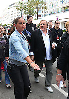 Gérard Depardieu walking with bodyguards on the Croisette - 67th Cannes Film Festival - France