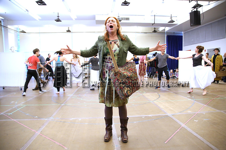 Carolee Carmello and cast during the 'Tuck Everlasting' press sneak peek at the New 42nd Street studios on February 29, 2016 in New York City.