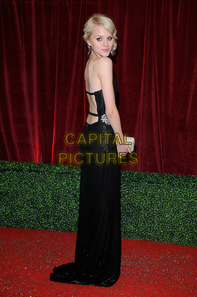 Hetti Bywater.Attending the British Soap Awards 2012.at the London Television Centre, London, England, UK, 28th April 2012..arrivals full length back long maxi dress strapless  skinny thin arms bony .CAP/CAN.©Can Nguyen/Capital Pictures.