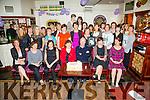 The Class of '83 from St John Bosco's, Cahersiveen held a reunion in the Fertha Bar Cahersiveen on Saturday night pictured here front l-r; Gerldine O'Driscoll, Fiona Quinlan, Mary Daly, Eileen Lyne, Junior Murphy(Teacher), Terry Murphy, Marian Lee, back l-r; Ann O'Dowd, Angela McGill, Sheila Daly, Monica Horgan, Ester Casey, Ann Marie O'Neill, Catherine Sugrue, Kay Sugrue, Mary B.Moriarty, Eileen Brennan, Bunty Kennedy, Noreen Dennehy, Angela Kean, Francis O'Donoghue, Elaine Conway(RIP), Ann O'Neill, Eileen Lyne, Margaret O'Brien, Carol Ann Wharton, Deirdre O'Connell, Noreen O'Shea, Helena Coffey & Patricia O'Keeffe.