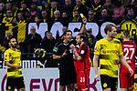11.03.2018, Signal Iduna Park, Dortmund, GER, 1.FBL, Borussia Dortmund vs Eintracht Frankfurt, <br /> <br /> im Bild | picture shows:<br /> in der 2. Spielminute zeigt Schiedsrichter Deniz Aytekin Marco Russ (Eintracht Frankfurt #23) die gelbe Karte nach einem Foulspiel an Marco Reus (Borussia Dortmund #11), <br /> <br /> <br /> Foto &copy; nordphoto / Rauch