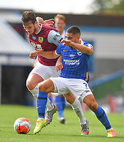Burnley's Kevin Long battles with Brighton & Hove Albion's Neal Maupay<br /> <br /> Photographer Dave Howarth/CameraSport<br /> <br /> The Premier League - Burnley v Brighton & Hove Albion - Sunday 26th July 2020 - Turf Moor - Burnley<br /> <br /> World Copyright © 2020 CameraSport. All rights reserved. 43 Linden Ave. Countesthorpe. Leicester. England. LE8 5PG - Tel: +44 (0) 116 277 4147 - admin@camerasport.com - www.camerasport.com