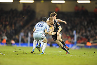 Millennium stadium, Ospreys v CardiffBlues RaboDirect PRO12 rugby Judgement Day, Saturday 30th March 2013. The Ospreys are again attacking the CardiffBlues defence during the Ospreys v CardiffBlues match. Mandatory credit for pictures used to-Jeff Thomas Photography-www.jaypics.photoshelter.com-07837 386244