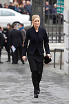 Politician Cristina Cifuentes arrives to the state funeral for former Spanish prime minister Adolfo Suarez at the Almudena Cathedral in Madrid, Spain. March 31, 2014. (ALTERPHOTOS/Victor Blanco)