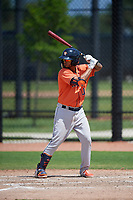 Houston Astros Jonathan Arauz (10) bats during a Minor League Spring Training Intrasquad game on March 28, 2019 at the FITTEAM Ballpark of the Palm Beaches in West Palm Beach, Florida.  (Mike Janes/Four Seam Images)