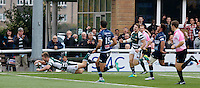 Ealing's Aled Jenkins scores during the Greene King IPA Championship match between Ealing Trailfinders and Bedford Blues at Castle Bar , West Ealing , England  on 29 October 2016. Photo by Carlton Myrie / PRiME Media