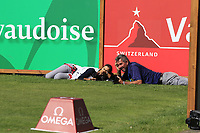 Getting ready for the winning shot on the 7th tee during Saturday's Round 3 of the 2018 Omega European Masters, held at the Golf Club Crans-Sur-Sierre, Crans Montana, Switzerland. 8th September 2018.<br /> Picture: Eoin Clarke | Golffile<br /> <br /> <br /> All photos usage must carry mandatory copyright credit (&copy; Golffile | Eoin Clarke)