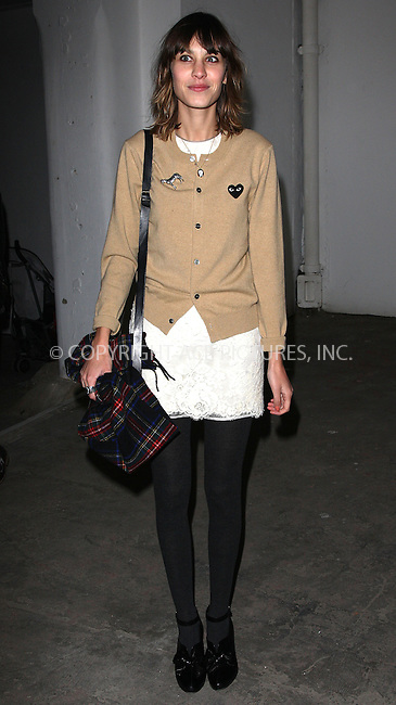 WWW.ACEPIXS.COM . . . . .  ..... . . . . US SALES ONLY . . . . .....February 2010, London....Alexa Chung during London Fashion Week in February 2010 in London....Please byline: FAMOUS-ACE PICTURES... . . . .  ....Ace Pictures, Inc:  ..tel: (212) 243 8787 or (646) 769 0430..e-mail: info@acepixs.com..web: http://www.acepixs.com