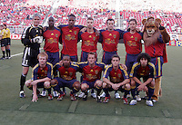 Real Salt Lake's starting line up during introductions  in the Real Salt Lake 2-1 win over Kansas City Wizards at Rice Eccles Stadium in Salt Lake City, Utah May 20, 2006