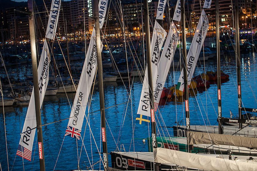 PALMA DE MALLORCA, SPAIN - 02 AUG:   day five of 32 Copa de Rey Mapfre de Vela at Real Club N·utico de Palma on August 02 2013 in Palma, Spain. Photo by Xaume Olleros / 52 Super Series