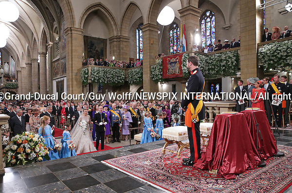"Wedding of HRH the Hereditary Grand Duke Guillaume and Countess Stéphanie de Lannoy.at the Catherdral of Our Lady of Luxembourg, Luxembourg_20-10-2012.Mandatory credit photo: ©Grand-Ducal Court/Guy Wolff/NEWSPIX INTERNATIONAL..(Failure to credit will incur a surcharge of 100% of reproduction fees)..                **ALL FEES PAYABLE TO: ""NEWSPIX INTERNATIONAL""**..IMMEDIATE CONFIRMATION OF USAGE REQUIRED:.Newspix International, 31 Chinnery Hill, Bishop's Stortford, ENGLAND CM23 3PS.Tel:+441279 324672  ; Fax: +441279656877.Mobile:  07775681153.e-mail: info@newspixinternational.co.uk"