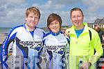KERRYHEAD TRI: Competing in the Kerryhead Triathlon at Ballyheigue in aid of Enable Ireland on Sunday l-r: Tomas Lynn, Sharon O'Hara and John Connolly.