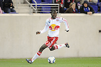 Tony Tchani (23) of the New York Red Bulls. The New York Red Bulls defeated the Philadelphia Union 2-1 during a US Open Cup qualifier at Red Bull Arena in Harrison, NJ, on April 27, 2010.