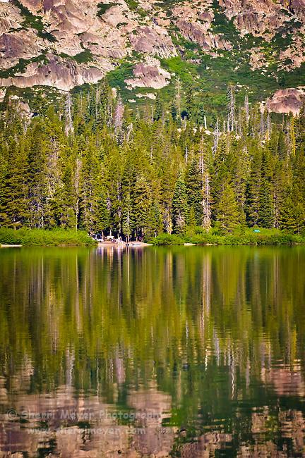Camping at Gold Lake, Sierra County, Northern California.