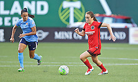 Portland, OR - Saturday July 02, 2016: Meleana Shim, Taylor Lytle during a regular season National Women's Soccer League (NWSL) match between the Portland Thorns FC and Sky Blue FC at Providence Park.