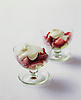Iced Wild Strawberries with White Chocolate Fondue