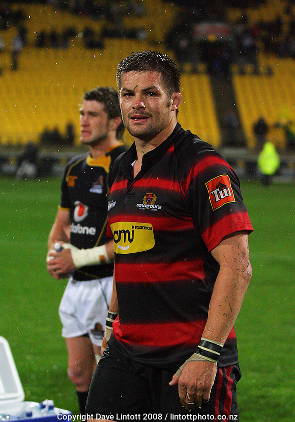 Richie McCaw and Cory Jane (left) after the Air NZ Cup Final between Wellington and Canterbury at Westpac Stadium, Wellington, New Zealand on Saturday 25th October 2008.  Photo: Dave Lintott / lintottphoto.co.nz