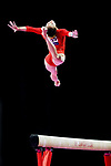 Shiho Nakaji (JPN), <br /> AUGUST 21, 2018 - Artistic Gymnastics : <br /> Women's Individual All-Around Balance Beam <br /> at JIEX Kemayoran Hall D <br /> during the 2018 Jakarta Palembang Asian Games <br /> in Jakarta, Indonesia. <br /> (Photo by Naoki Nishimura/AFLO SPORT)