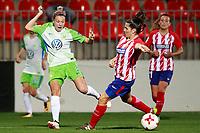 Atletico de Madrid's Silvia Meseguer (r) and VfL Wolfsburg's Zsanett Jakabfi during UEFA Womens Champions League 2017/2018, 1/16 Final, 1st match. October 4,2017. (ALTERPHOTOS/Acero) /NortePhoto.com /NortePhoto.com