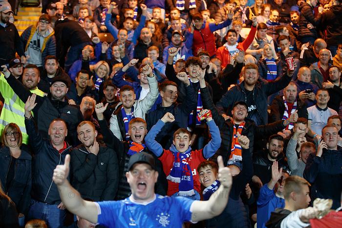 25.09.2018 Livingston v Rangers: Rangers fans