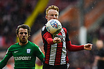 Mark Duffy of Sheffield Utd controls the ball during the Championship league match at Bramall Lane Stadium, Sheffield. Picture date 28th April, 2018. Picture credit should read: Harry Marshall/Sportimage