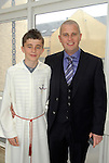 Jack Tunstead with his dad Alan at the Confirmation in Laytown. Photo:www.newsfile.ie