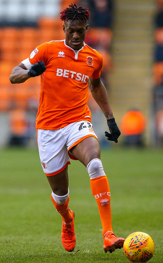 Blackpool's Armand Gnanduillet<br /> <br /> Photographer Alex Dodd/CameraSport<br /> <br /> The EFL Sky Bet League One - Blackpool v Shrewsbury Town - Saturday 19 January 2019 - Bloomfield Road - Blackpool<br /> <br /> World Copyright © 2019 CameraSport. All rights reserved. 43 Linden Ave. Countesthorpe. Leicester. England. LE8 5PG - Tel: +44 (0) 116 277 4147 - admin@camerasport.com - www.camerasport.com