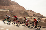 The breakaway group Markel Irizar (ESP) Trek-Segafredo, Fabricio Ferrari Barcelo (URG) Caja Rural-Seguros RGA, Loic Chetout (FRA) Cofidis and Danny Pate (USA) Rally Cycling in the Green Mountains during Stage 2 of the 2018 Tour of Oman running 167.5km from Sultan Qaboos University to Al Bustan. 14th February 2018.<br /> Picture: ASO/Muscat Municipality/Kare Dehlie Thorstad | Cyclefile<br /> <br /> <br /> All photos usage must carry mandatory copyright credit (&copy; Cyclefile | ASO/Muscat Municipality/Kare Dehlie Thorstad)