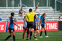 Kansas City, MO - Wednesday August 16, 2017: Michael Radchuk, Lo'eau Labonta during a regular season National Women's Soccer League (NWSL) match between FC Kansas City and the Chicago Red Stars at Children's Mercy Victory Field.
