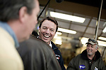 January 24, 2008. Spartanburg, SC.. Presidential candidate and former US senator, John Edwards campaigned across the western part of South Carolina today in an effort to shore up support before Saturday's primary election.. Edwards greeted diners at the Beacon Drive In in Spartanburg.