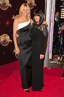Tess Daly and Claudia Winkleman at the Strictly Come Dancing Launch, London, 02/09/2014 Picture by: Alexandra Glen / Featureflash