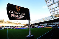 A general view of Liberty Stadium, home of Ospreys with Guinness Pro 14 branding<br /> <br /> Photographer Ashley Crowden/CameraSport<br /> <br /> Guinness Pro14 Round 6 - Ospreys v Scarlets - Saturday 7th October 2017 - Liberty Stadium - Swansea<br /> <br /> World Copyright &copy; 2017 CameraSport. All rights reserved. 43 Linden Ave. Countesthorpe. Leicester. England. LE8 5PG - Tel: +44 (0) 116 277 4147 - admin@camerasport.com - www.camerasport.com