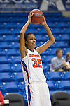 Texas Arlington Mavericks forward Aron Garcia (32) in action during the game between the Texas Pan American Lady Broncs  and the Texas Arlington Mavericks at the College Park Center arena in Arlington, Texas. UTPA defeats UTA 59 to 57....