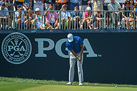 Tiger Woods (USA) watches his putt on 9 during 3rd round of the 100th PGA Championship at Bellerive Country Club, St. Louis, Missouri. 8/11/2018.<br /> Picture: Golffile | Ken Murray<br /> <br /> All photo usage must carry mandatory copyright credit (&copy; Golffile | Ken Murray)