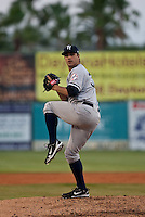 April 21 2010: .Adam Olbrychowski (33) of the Tampa Yankees during a game vs. the Daytona Beach Cubs at Jackie Robinson Ballpark in Daytona Beach, Florida. Tampa, the Florida State League High-A affiliate of the New York Yankees, won the game against Daytona, the affiliate of the Chicago Cubs by the score of 4-1.  Photo By Scott Jontes/Four Seam Images