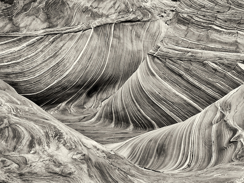 Sandtone formation in North Coyote Buttes, The Wave. Paria Canyon Vermillion Cliffs Wilderness. Utah/Arizona