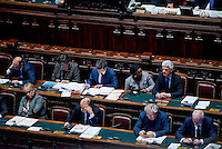 Roma, 31 Gennaio 2014<br /> Camera dei Deputati - Voto sulle pregiudiziali di costituzionalità della legge elettorale<br /> I Ministri del governo Letta